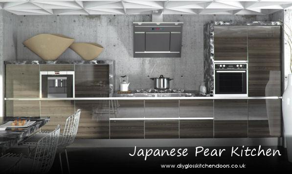 Cheap Kitchens Uk >> Zurfiz Ultragloss Japanese Pear Kitchen Doors, diy kitchens doors, cheap kitchen doors online